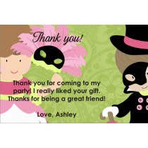Masquerade Costume Party Thank You Card