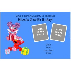 *Elmo or Abby Cadabby Photo Invitation - ALL COLORS
