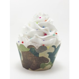 Army Military Hunting Camouflage Cupcake Wrappers - 24ct