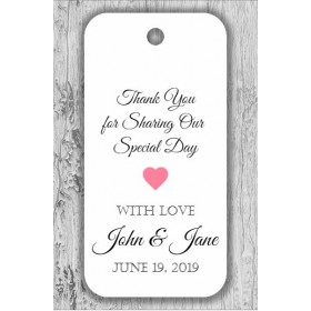 Thank you for Sharing Our Special Day Personalized Custom Gift Party Favor Tags - For Weddings and More - 30 ct by PrettySweetParty