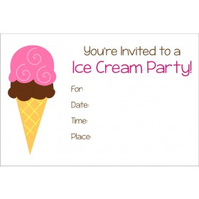 Ice Cream Party Free Printable Invitation