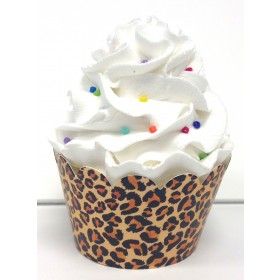 Leopard Animal Print Cupcake Wrappers - 24ct