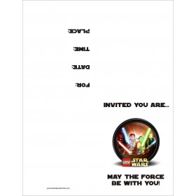 Lego Star Wars FREE Printable Birthday Party Invitation