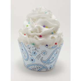 Blue Paisly Cupcake Wrappers 24ct