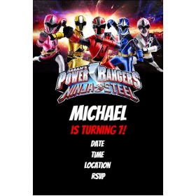 Power Rangers Ninja Steel Party Invitation