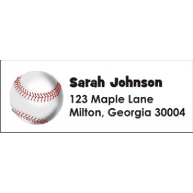 Baseball Return Address Labels