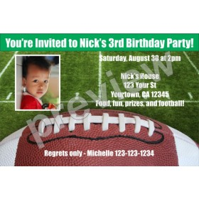 Football Photo Invitations