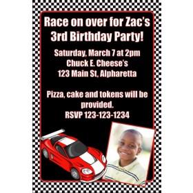 Race Car Photo Invitation