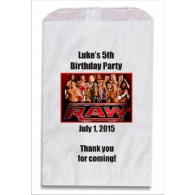 Wrestling Personalized Party Favor Bags 10 count