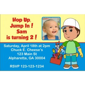 Handy Manny Photo Invitation