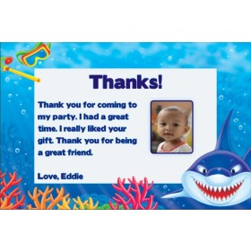 Shark Photo Thank You Cards