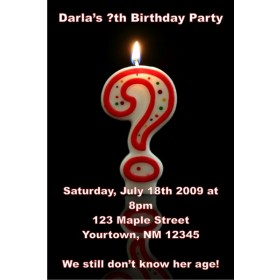 Question Mark Candle Invitation