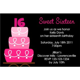 Sweet 16 (or any age) Birthday Invitation