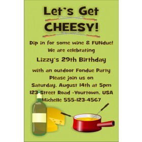 Fondue Party Invitation