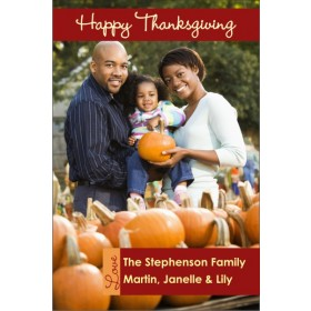 Happy Thanksgiving Fall Autumn Photo Card
