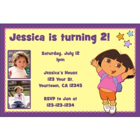 Dora the explorer free printable birthday party invitation dora the explorer photo invitations 2 filmwisefo