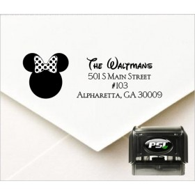 Minnie Mouse Inspired Personalized Self Inking Address Stamp