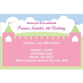 Princess Fairy Castle Invitations 2