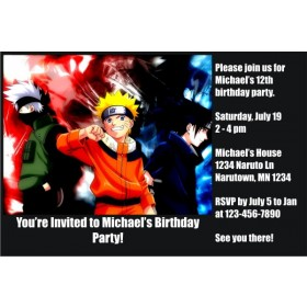 Naruto Invitations