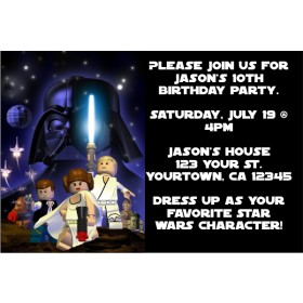 Star Wars - Lego Star Wars Invitations - Space Blast