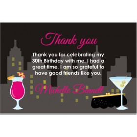 Girls Night Out - Bachelorette Party Thank You Card