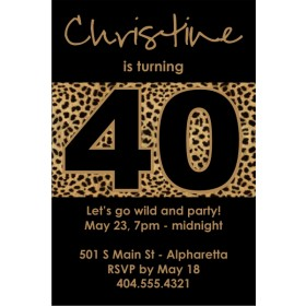 Totally Wild Leopard Print Party Invitation