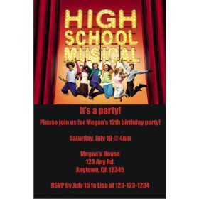 High School Musical Invitations