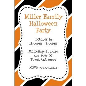 Halloween Stripes Party Invitation