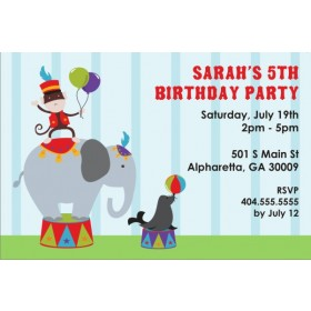 Circus Animals Invitation
