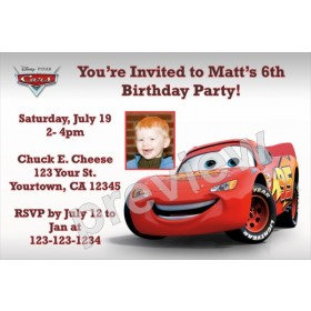 Cars Invitations (Disney/Pixar)