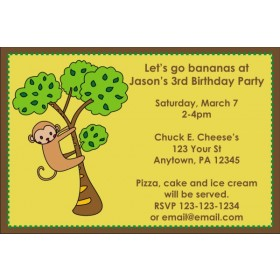 Monkey in a Tree Invitation