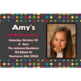 Colorful Dots Photo Invitation