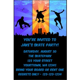Skateboarding Invitations
