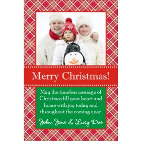 Plaid Christmas Holiday Photo Card