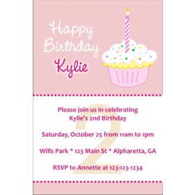 Happy Birthday Cupcake Invitations
