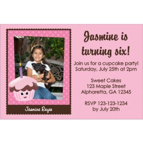 Cupcake Photo Invitations 2