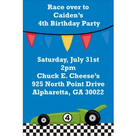 Race Car Invitation 3
