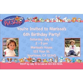 Littlest Pet Shop Photo Invitations