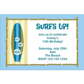 Surf Board Invitation