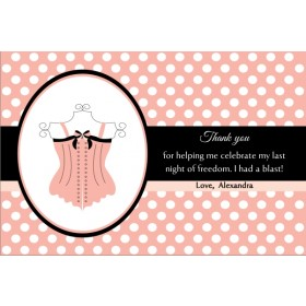 Lingerie Bridal Shower Bachelorette Party Thank You Card 4