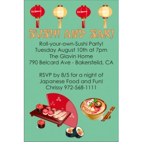 Sushi Japanese Party Invitation