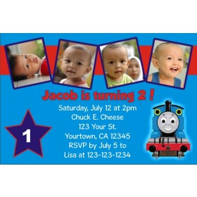 Thomas The Tank Engine Train Photo Invitations