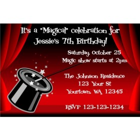 Magician's Hat - Magic Show invitation