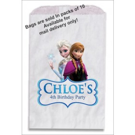Frozen Elsa and Anna Personalized Party Favor Gift Treat Bags