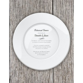 Rehearsal Dinner Party Die Cut Invitation - Dinner Plate