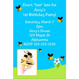 Bumble Bee Invitation with Optional Photo
