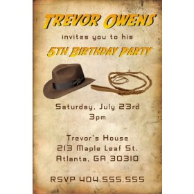 Indiana Jones inspired Invitation