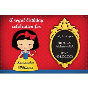 Snow White Royal Celebration Invitation