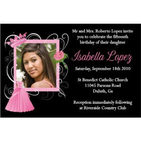Quinceanera or Sweet 16 Photo Invitation