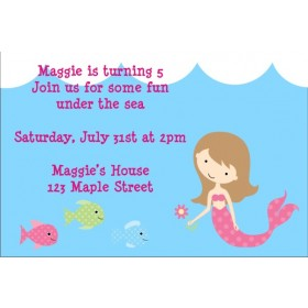 Mermaid Birthday Invitation 2 - Select a Mermaid